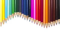 Multicolored pencils set Stock Image