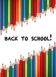 Multicolored pencils for the welcome back to school Royalty Free Stock Photography