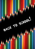 Multicolored pencils for the welcome back to school Stock Images