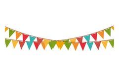 Multicolored pennant of festival design Stock Photo