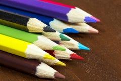 Multicolored pennen stock foto's