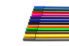 Multicolored Pens Stock Photography