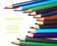 Multicolored pensils royalty-vrije stock foto's