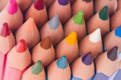 Multicolored pensils close up Royalty Free Stock Photography