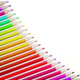 Multicolored pensils isolated. plus EPS10 Royalty Free Stock Photos