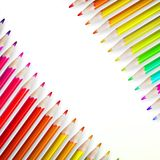 Multicolored pensils isolated. plus EPS10 Stock Images