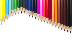 Multicolored pensils set Royalty Free Stock Photo