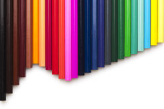Multicolored pensils set Royalty Free Stock Photos