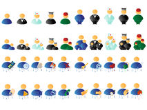 Multicolored people icons Royalty Free Stock Photos