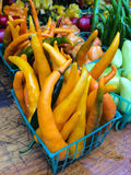 Multicolored peppers at farmers Market Royalty Free Stock Photo