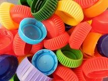 Multicolored PET caps Stock Photos