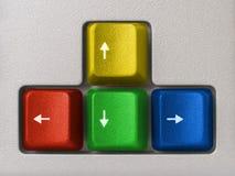 Multicolored pijlen (computertoetsenbord) stock foto