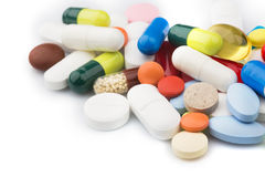 Multicolored  Pills and Capsules Stock Photography