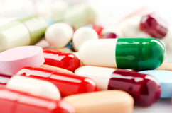 Multicolored Pills and Capsules Royalty Free Stock Image