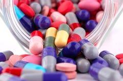 Multicolored Pills Stock Photo