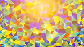 Multicolored pink and blue polygonal kaleidoscope abstract background, cover, consisting of a structure of triangles. Texture, Bac Stock Image