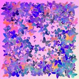 Multicolored pink and blue polygonal kaleidoscope abstract background, cover, consisting of a structure of triangles. Texture, Bac. Kground in mosaic style and Royalty Free Illustration
