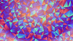 Multicolored pink and blue polygonal kaleidoscope abstract background, cover, consisting of a structure of triangles. Texture, Bac Stock Photos
