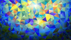Multicolored pink and blue polygonal kaleidoscope abstract background, cover, consisting of a structure of triangles. Texture, Bac Stock Photo