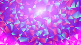 Multicolored pink and blue polygonal kaleidoscope abstract background, cover, consisting of a structure of triangles. Texture, Bac Stock Photography