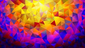 Multicolored pink and blue polygonal kaleidoscope abstract background, cover, consisting of a structure of triangles. Texture, Bac. Kground in mosaic style and Stock Image