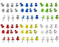 Multicolored pins Royalty Free Stock Photo