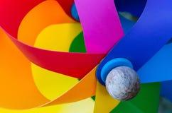 Multicolored pinwheel Stock Photography