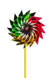 A multicolored pinwheel toy. Stock Photo
