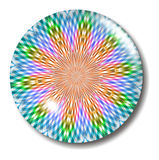 Multicolored plaid glass button orb Royalty Free Stock Photo