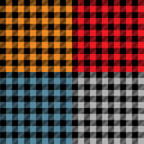 Multicolored plaid samples Royalty Free Stock Photo