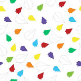 Multicolored planes pattern Stock Images