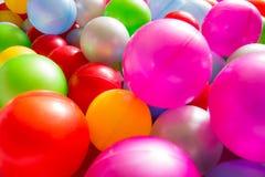 Multicolored plastic ballen Royalty-vrije Stock Afbeelding