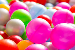 Multicolored plastic ballen Stock Foto's