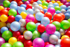 Multicolored plastic balls Royalty Free Stock Photography