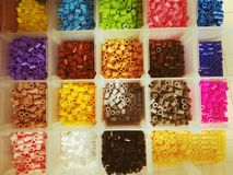 Multicolored plastic beads Royalty Free Stock Photography