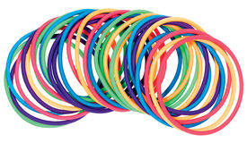 Multicolored plastic bracelets Stock Photography