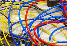 Multicolored plastic hoses Royalty Free Stock Photo