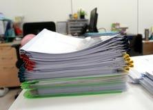 Multicolored plastic ridge files Stock Photos