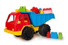 Multicolored plastic speelgoed Royalty-vrije Stock Foto's