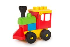 Multicolored plastic speelgoed Stock Foto