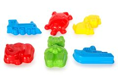 Multicolored plastic toys Royalty Free Stock Photo