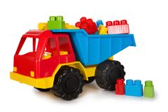 Multicolored plastic toys Royalty Free Stock Photos
