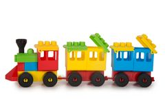 Multicolored plastic toys Royalty Free Stock Photography