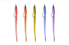 Multicolored Plastic Wormen Royalty-vrije Stock Foto's