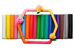 Multicolored plasticine Stock Photography