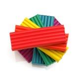 Multicolored plasticine Stock Afbeeldingen