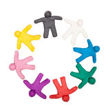Multicolored plasticine human figures Royalty Free Stock Photo