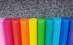 Multicolored plasticine texture background stock photography