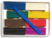 Multicolored plasticine Royalty Free Stock Photo