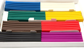 Multicolored plasticine Royalty Free Stock Images